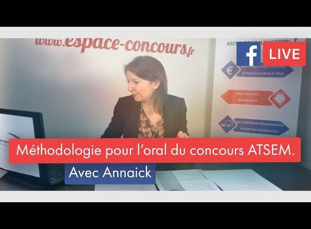 Facebook Live #9 – Méthodologie pour l'oral du concours ATSEM.