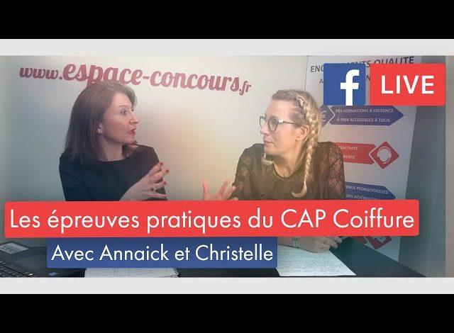 FacebookLive #12 – Les épreuves pratiques du CAP Coiffure