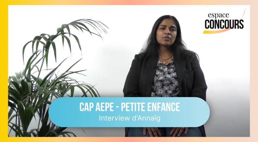 CAP Petite enfance : interview d'Annaïg, apprenante chez Espace Concours