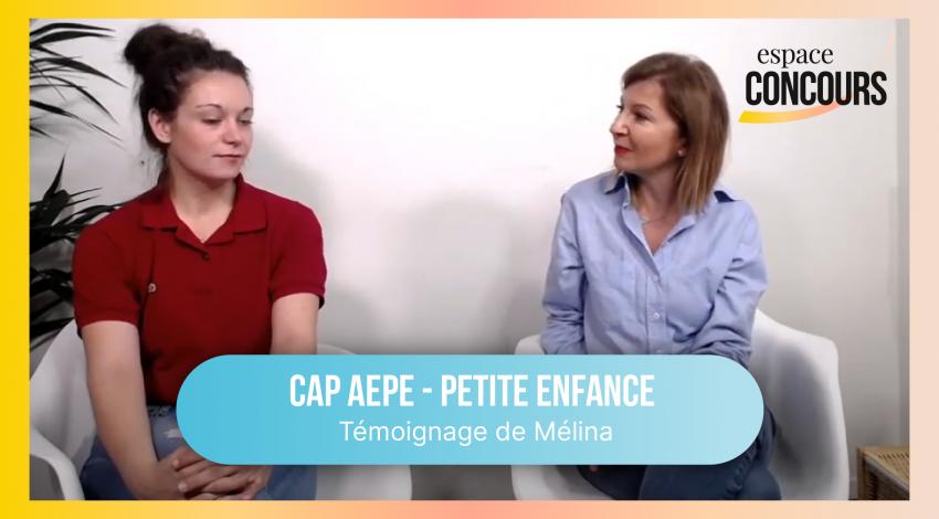 CAP Petite Enfance (AEPE) : témoignage de Mélina