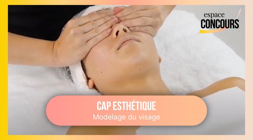 CAP Esthétique – Modelage du visage [extrait de cours en direct]