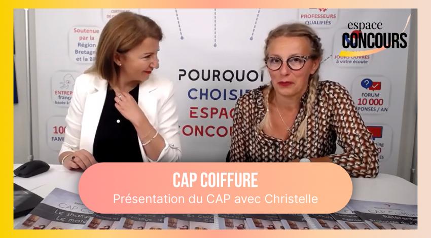CAP Coiffure : Présentation du CAP avec Christelle