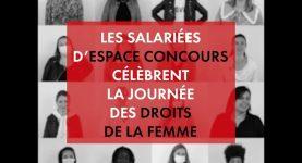 Les salariés d'Espace Concours célèbrent la journée des droits de la femme