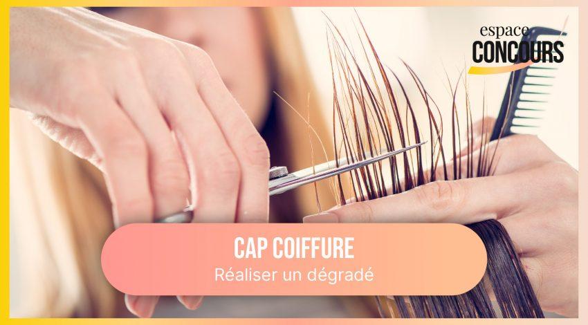 Coupe dégradé [Formation CAP Coiffure – Vidéo Tuto – Extrait de cours]