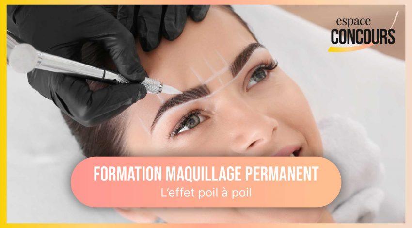 Dermopigmentation poil à poil sourcils [Formation Maquillage Permanent – Vidéo Tuto – Extrait cours]