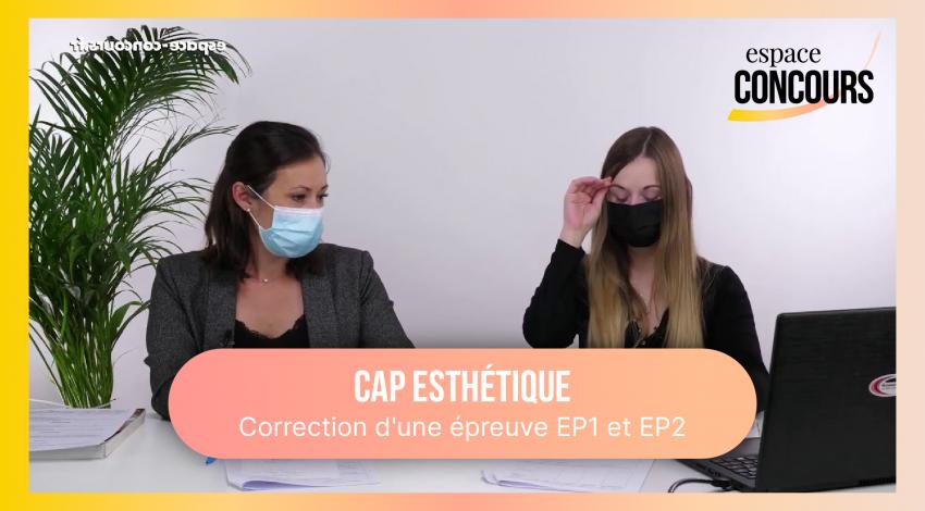 Correction d'une épreuve EP1 et EP2 avec Caroline, coordinatrice du pôle beauté.